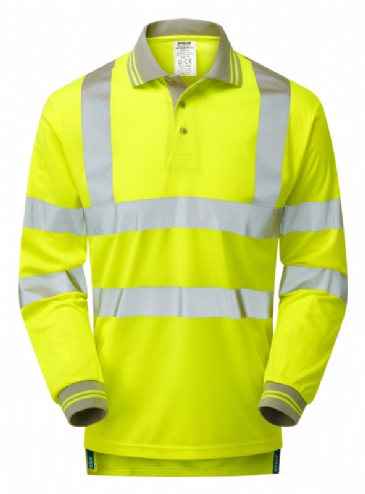 Pulsar P458 Long Sleeve Polo Shirt (High Vis Yellow)